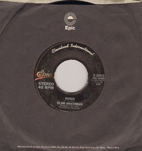 Whittaker, Roger - When/Since You Went Away (with Epic company sleeve) - NM9/ - 45 rpm Records