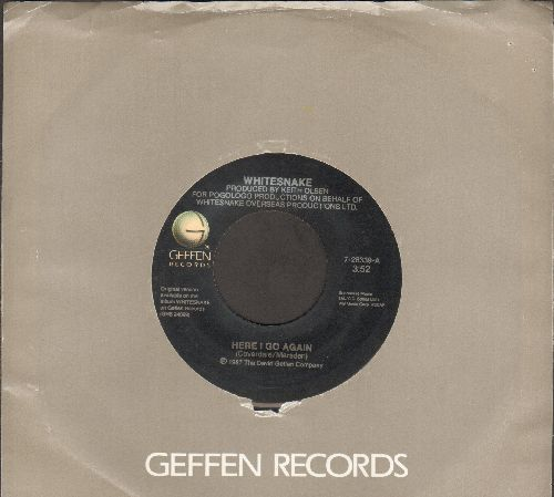 Whitesnake - Here I Go Again/Children Of The Night (with Geffen company sleeve) - VG7/ - 45 rpm Records