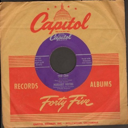 Whiting, Margaret - True Love/Haunting Love (with vintage Capitol company sleeve) - EX8/ - 45 rpm Records