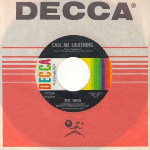Who - Call Me Lightning/Dr. Jekyll & Mr. Hyde (with Decca company sleeve) - EX8/ - 45 rpm Records