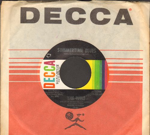 Who - Summertime Blues/Heaven And Hell (with Decca company sleeve)(bb) - NM9/ - 45 rpm Records