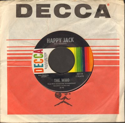 Who - Happy Jack/Whiskey Man (with Decca company sleeve) - EX8/ - 45 rpm Records