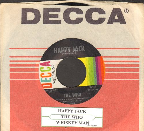 Who - Happy Jack/Whiskey Man (with Decca company sleeve and juke label) - EX8/ - 45 rpm Records