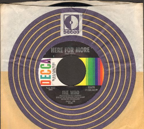 Who - Here For More/The Seeker (with Decca company sleeve) (bb) - EX8/ - 45 rpm Records