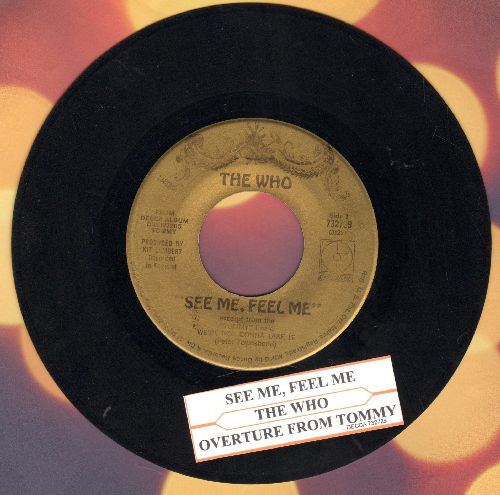 Who - See Me, Feel Me/Overture From Tommy (with juke box label) - EX8/ - 45 rpm Records