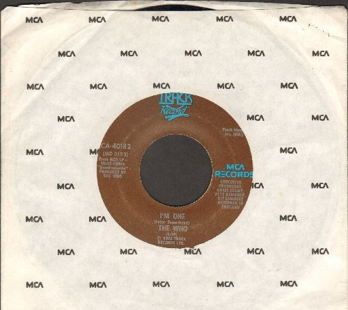 Who - I'm One/The Real Me (with MCA company sleeve) - EX8/ - 45 rpm Records