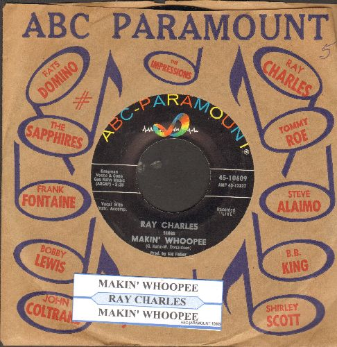 Charles, Ray - Makin' Whoopee ('plays' on one side, 'sings' on other) (with juke box label and ABC-Paramount company sleeve) - NM9/ - 45 rpm Records