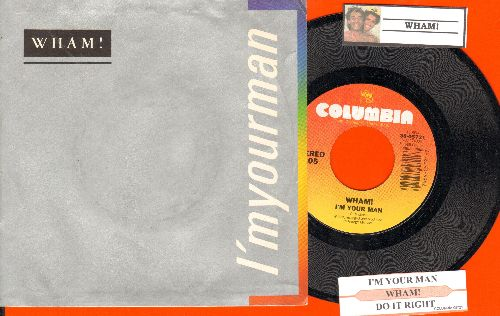 Wham! - I'm Your Man/Do It Right (Instrumental) (with juke box label and picture sleeve) - NM9/EX8 - 45 rpm Records