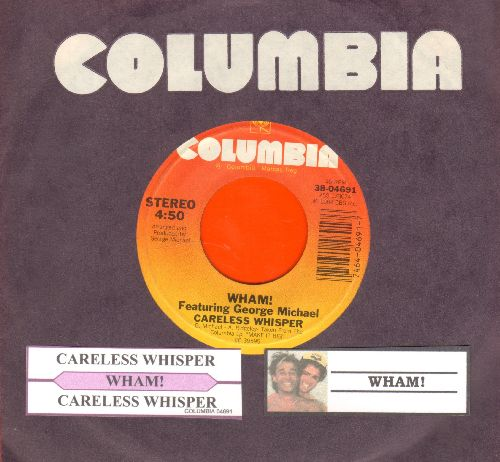 Wham! - Careless Whisper/Careless Whisper (Instrumental) (with juke box label and Columbia company sleeve) - NM9/ - 45 rpm Records
