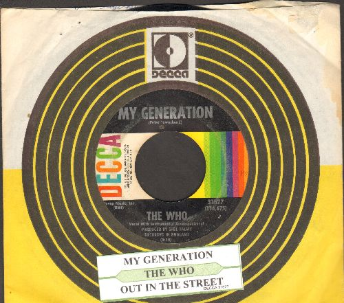Who - My Generation/Out In The Street (with Decca company sleeve and juke box label) - EX8/ - 45 rpm Records