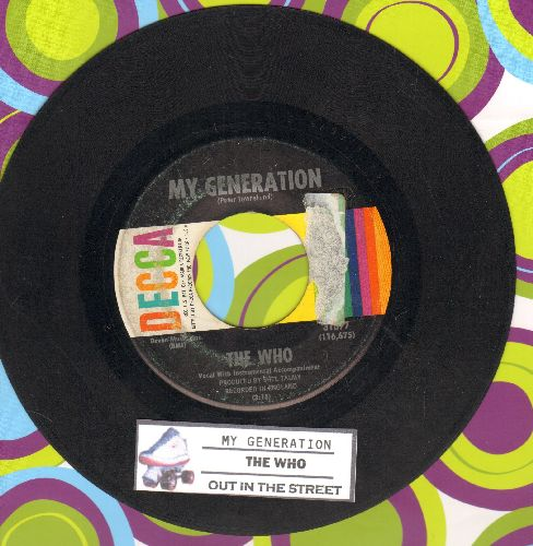 Who - My Generation/Out In The Street (with juke box label)  - VG7/ - 45 rpm Records