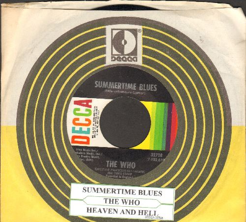 Who - Summertime Blues/Heaven And Hell (with Decca company sleeve and juke box label) - EX8/ - 45 rpm Records