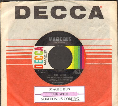 Who - Magic Bus/Someone's Coming (with Decca company sleeve and juke box label) - EX8/ - 45 rpm Records