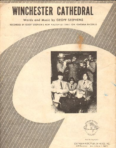 New Vaudeville Band - Winchester Cathdral - Vintage SHEET MUSIC for the 1960s Hit by The New Vaudeville band. - VG7/ - Sheet Music