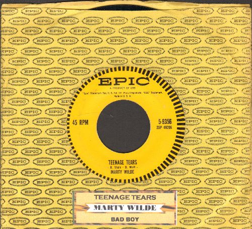 Wilde, Marty - Teenage Tears/Bad Boy (RARE Teen-Idol Gem with Epic company sleeve and juke box label) - EX8/ - 45 rpm Records