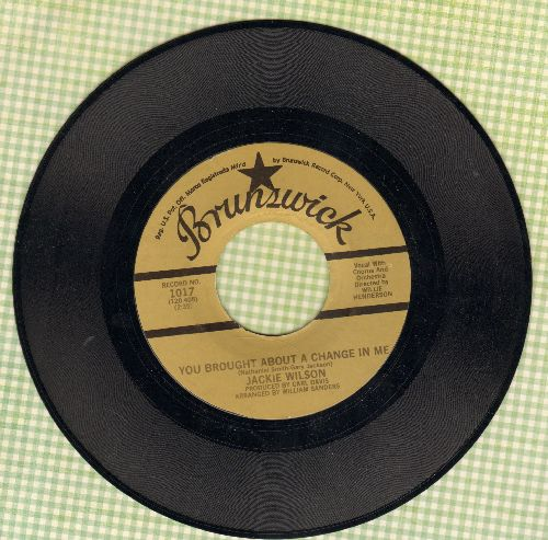 Wilson, Jackie - You Brought About A Change In Me/For Once In My Life (double-hit re-issue) - NM9/ - 45 rpm Records