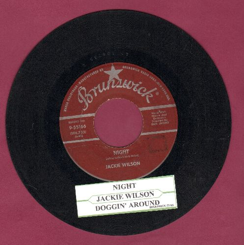 Wilson, Jackie - Doggin' Around/Night (burgundy label early pressing with juke box label) - VG7/ - 45 rpm Records