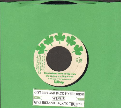 Wings - Give Ireland Back To The Irish (with juke box label) - EX8/ - 45 rpm Records
