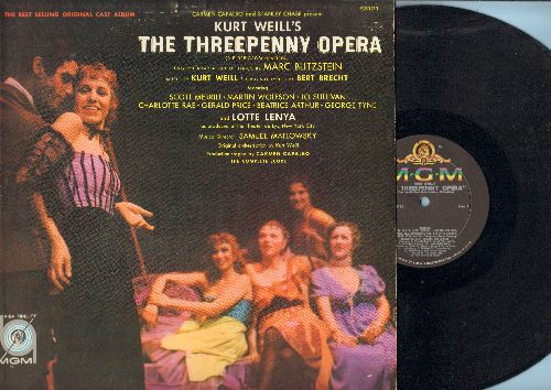 Three Penny Opera - The Three Penny Opera - Original cast album starring Lotte Lenya and Scott Merrill (vinyl MONO LP record) - EX8/EX8 - LP Records