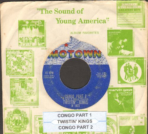 Twistin' Kings - Congo (Parts 1 + 2) (RARE Vintage Motown 2-sider with juke box label and company sleeve) - VG7/ - 45 rpm Records