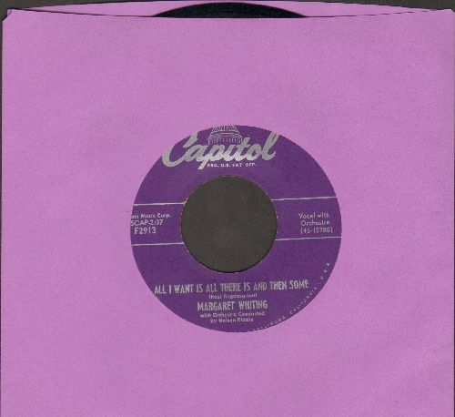 Whiting, Margaret - All I Want Is All There Is And Then Some/Can This Be Love  - EX8/ - 45 rpm Records