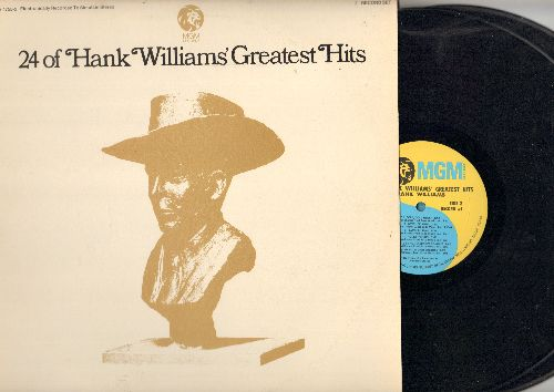 Williams, Hank - 24 Of Hank Williams' Greatest Hits  (2 vinyl STEREO LP record set, gate-fold cover) - NM9/EX8 - LP Records