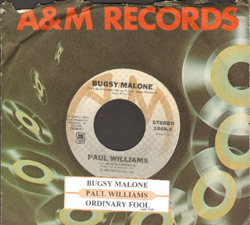 Williams, Paul - Bugsy Malon (featured in film -Bugsy Malone-, with A&M company sleeve and juke box label) - NM9/ - 45 rpm Records