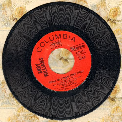 Williams, Andy - Love Story (Where Do I Begin)/Something - EX8/ - 45 rpm Records