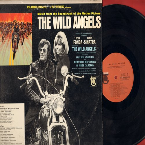 Wild Angels - The Wild Angels - Original Motion Picture Sound Track, featuring songs by The Visitors, The Hands On Time as well as Instrumentals by Davie Allan & The Arrows (Vinyl STEREO LP record) - VG7/VG7 - LP Records