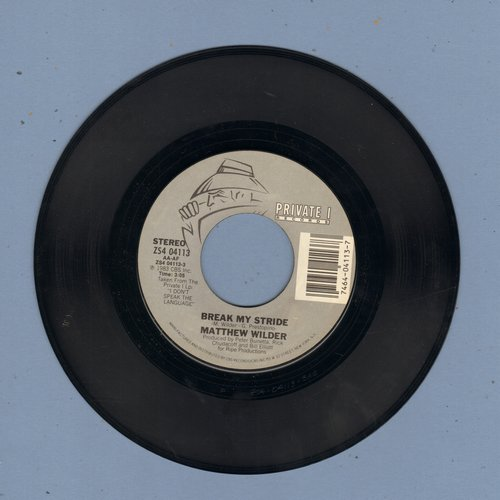 Wilder, Matthew - Break My Stride/Break My Stride (instrumental) - EX8/ - 45 rpm Records