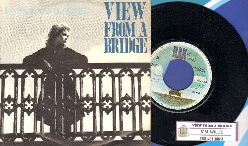 Wilde, Kim - View From A Bridge/Take Me Tonight (EU Pressing with juke box label and picture sleeve) - NM9/NM9 - 45 rpm Records