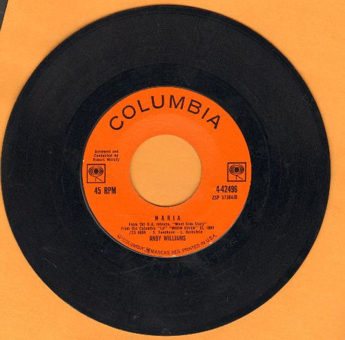 Williams, Andy - Maria/Never On Sunday - EX8/ - 45 rpm Records