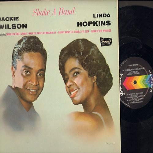 Wilson, Jackie & Linda Hopkins - Shake A Hand: Swing Low Sweet Chariot, Everytime I Feel The Spirit, Nobody Knows The Trouble I've Seen (Vinyl MONO LP record, black label first pressing, NICE condition!) - M10/EX8 - LP Records