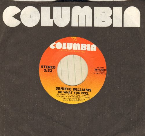 Williams, Deniece - Do What You Feel/Love, Peace And Unity (with Columbia company sleeve) - NM9/ - 45 rpm Records