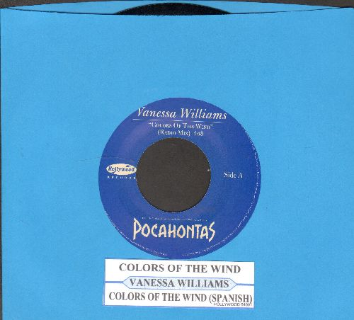 Williams, Vanessa - Colors Of The Wind/Colors Of The Wind (Spanish Version)(with juke box label) - NM9/ - 45 rpm Records