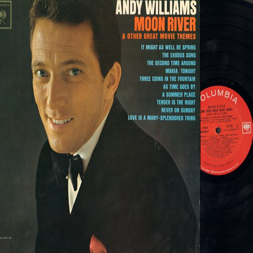 Williams, Andy - Moon River: A Summer Place, Love Is A Many-Splendored Thing, The Exodus Song, Never On Sunday (vinyl MONO LP record) - NM9/NM9 - LP Records