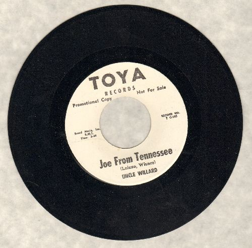 Uncle Willard - Joe From Tennessee/Let's Sit Down (RARE DJ advance pressing) - NM9/ - 45 rpm Records