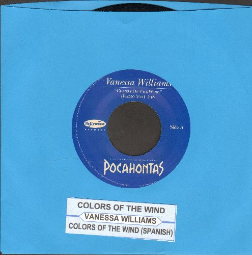 Williams, Vanessa - Colors Of The Wind (Academy Award Winning Best Song from Disney Film -Pocahontas-)/Colors Of The Wind (Spanish Version)(with juke box label) - NM9/ - 45 rpm Records