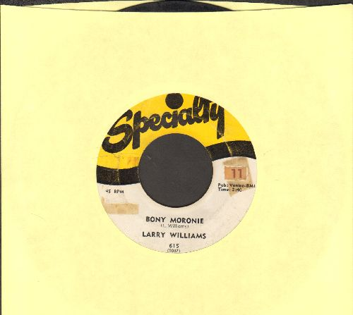 Williams, Larry - Bony Moronie/You Bug Me, Baby (with juke box label) - G5/ - 45 rpm Records