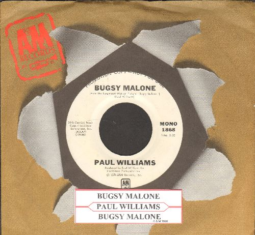Williams, Paul - Bugsy Malon (featured in film -Bugsy Malone-, double-A-sided DJ advance pressing with A&M company sleeve and juke box label) - NM9/ - 45 rpm Records