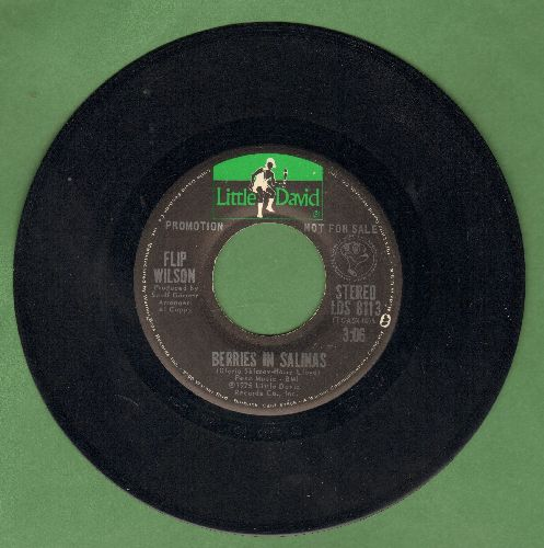 Wilson, Flip - Berries In Salinas (double-A-sided DJ advance copy of sentimental tribute to hard-working poor people, featuring STEREO and MONO version) - EX8/ - 45 rpm Records