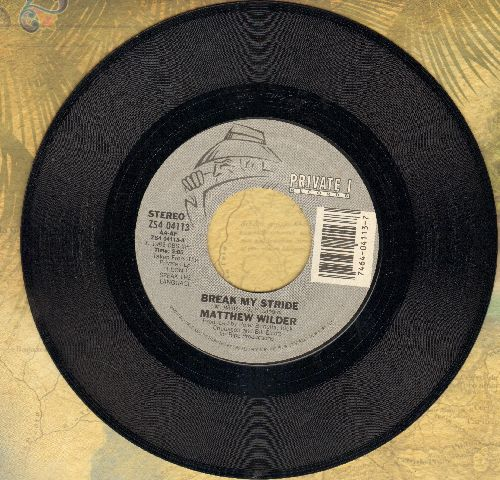 Wilder, Matthew - Break My Stride/Break My Stride (instrumental) - M10/ - 45 rpm Records