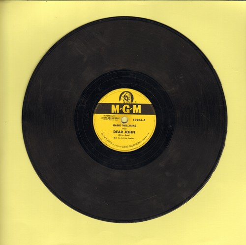 Williams, Hank - Dear John/Cold Cold Heart (10 inch 78 RPM record) - G5/ - 78 rpm