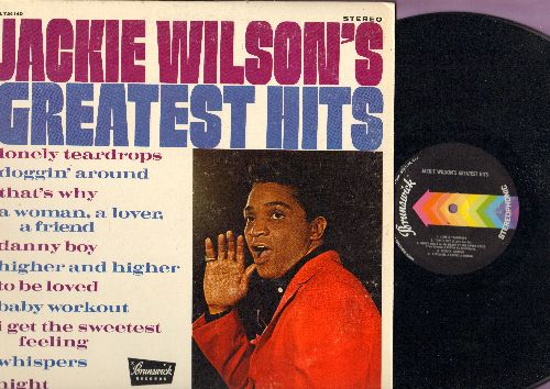Wilson, Jackie - Jackie Wilson's Greatest Hits: Lonely Teardrops, Doggin' Around, To Be Loved, Whispers, Night (Vinyl STEREO LP record) - EX8/EX8 - LP Records