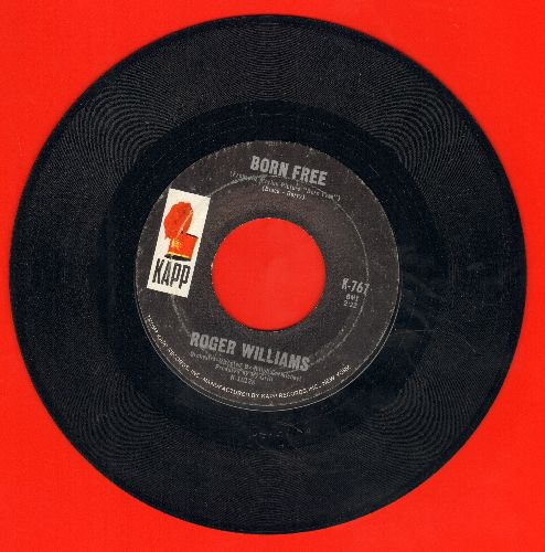 Williams, Roger - Born Free/Jimmie's Train  - VG7/ - 45 rpm Records