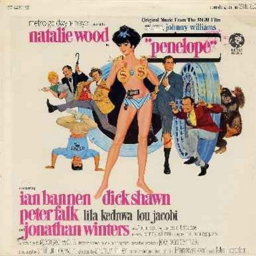 Williams, John - Penelope - Original Motion Picture Sound Track featuring Music Score by John Williams and vocal tracks by Natalie Wood and The Pennypipers (Vinyl STEREO LP record) - NM9/EX8 - LP Records