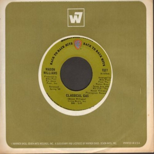 Williams, Mason - Classical Gas/Baroque-A-Nova (double-hit dark green label early re-issue) - EX8/ - 45 rpm Records