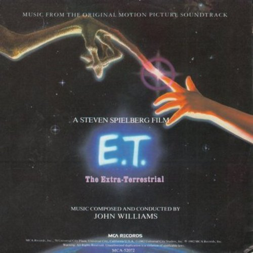 Williams, John - Theme From E. T. (the Extra-Terrestrial)/Over The Moon (with picture sleeve) - EX8/EX8 - 45 rpm Records
