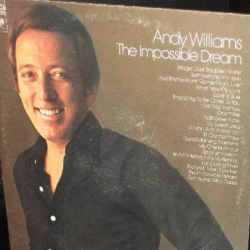 Williams, Andy - The Impossible Dream: Both Sides Now, Bridge Over Troubled Water, What Now My Love, Good Morning Starshine (2 vinyl STEREO LP record set, gate-fold cover) - NM9/EX8 - LP Records