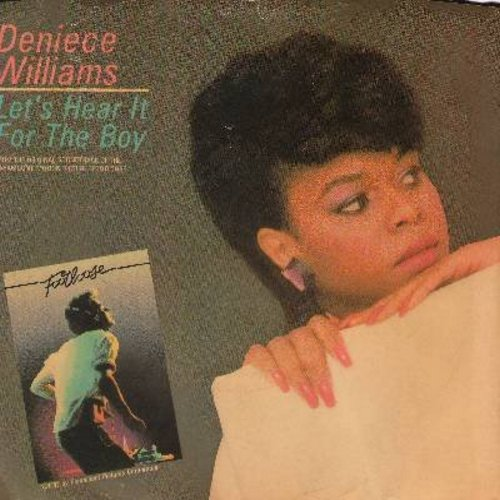 Williams, Deniece - Let's Hear It For The Boy (2 versions of Classic Theme Song/Dance Hit, from film -Footloose-) (with picture sleeve) - NM9/EX8 - 45 rpm Records